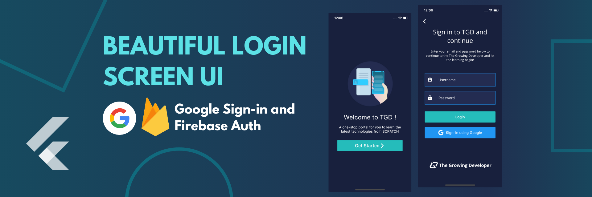Flutter Tutorial - How to build Beautiful Login Screen with Google Sign - Part I